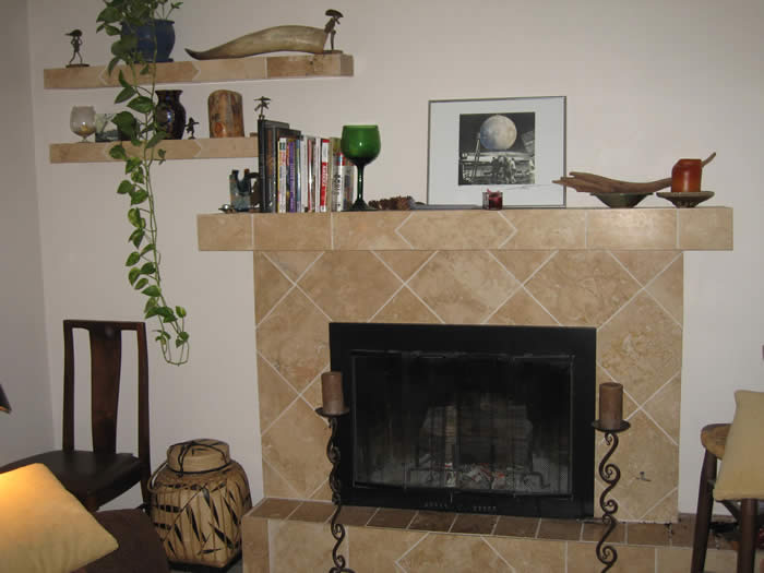 Fireplace, Mantel & Shelves